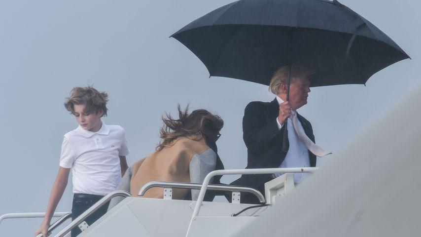 Barron, Melania und Donald Trump im Januar 2018