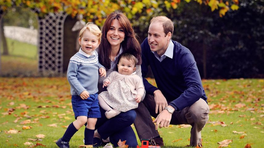 Prinz George, Herzogin Kate, Prinzessin Charlotte und Prinz William