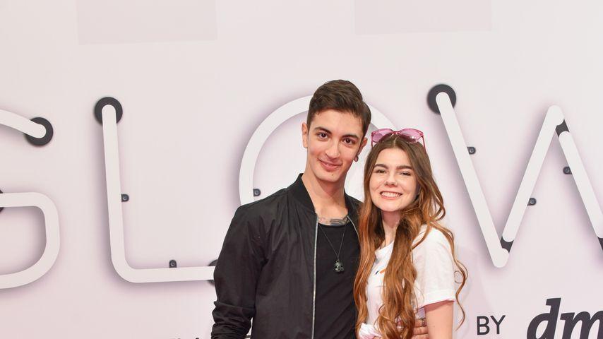 Felipe Simon und Klaudia Giez auf der Glow 2019