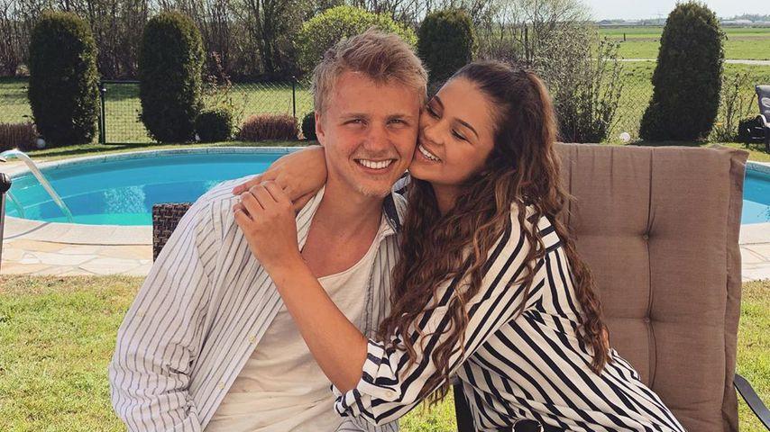 Felix Götze und seine Freundin Alisa im April 2020
