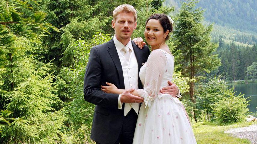 """Felix (Martin Gruber) und Emma (Ivanka Brekalo), """"Sturm der Liebe""""-Paar Staffel 4"""