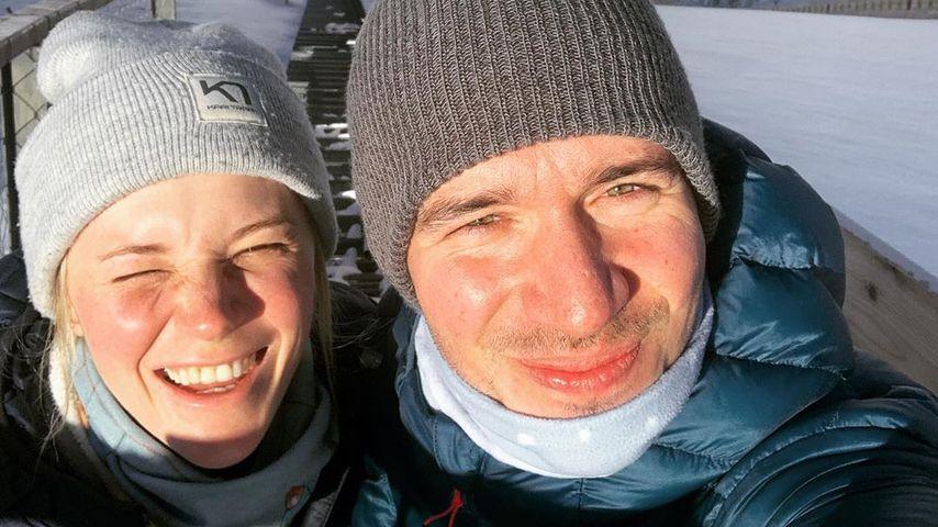 Felix Neureuther mit seiner Frau Miriam, Februar 2020