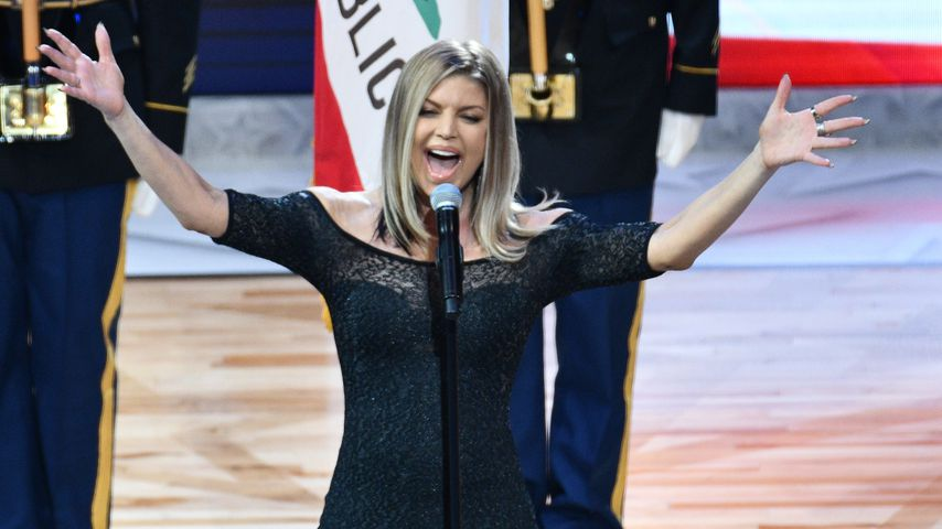 Fergie beim NBA All-Star Game 2018