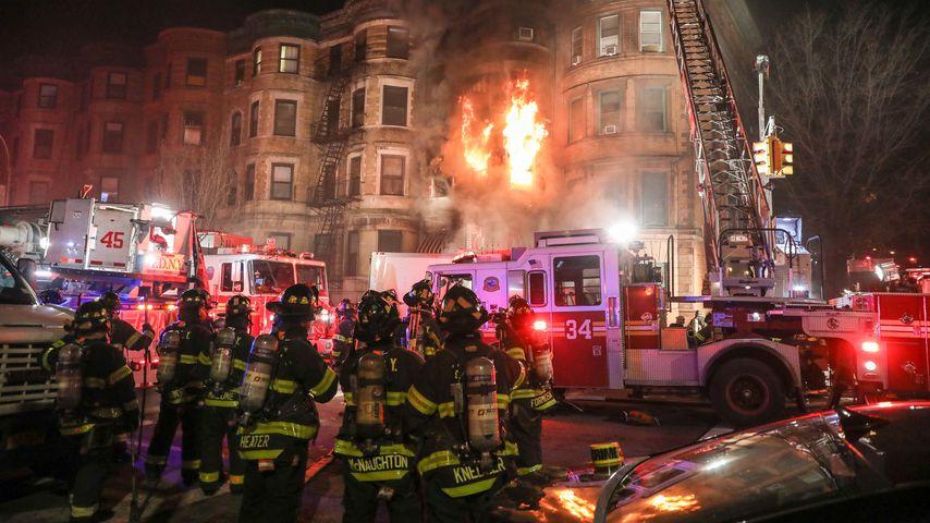 "Feuer am Set zum Film ""Motherless Brooklyn"""