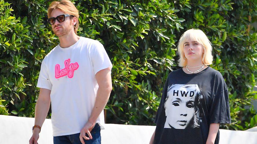 Finneas O'Connell und Billie Eilish in Santa Monica im August 2021