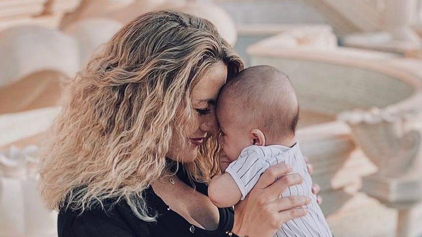 Fiona Erdmann mit ihrem Sohn Leo Luan