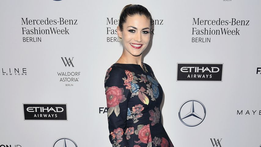 Fiona Erdmann auf der Fashion Week in Berlin im Januar 2017