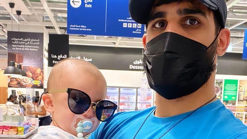 Fiona Erdmanns Partner Mohammed mit Sohn Leo Luan
