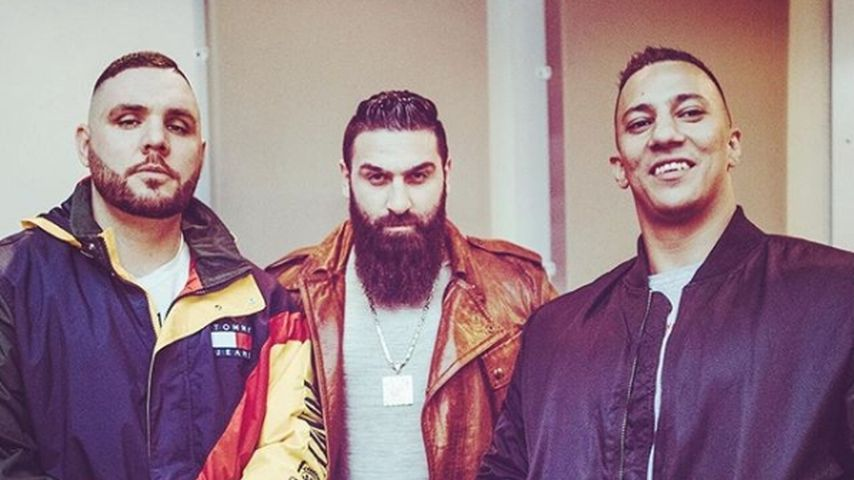 Die Rapper Fler, Sinan G und Farid Bang