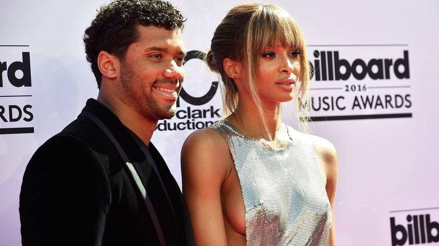 Football-Star Russell Wilson und Sängerin Ciara in Las Vegas