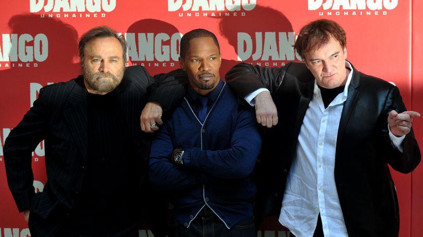 Franco Nero, Jamie Foxx und Quentin Tarantino im Januar 2013