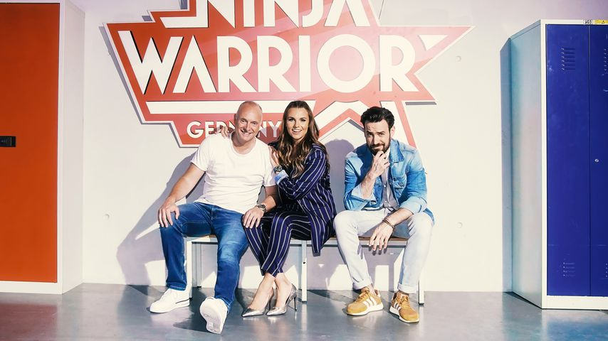 """Frank Buschmann, Laura Wontorra und Jan Köppen für """"Ninja Warrior Germany"""""""