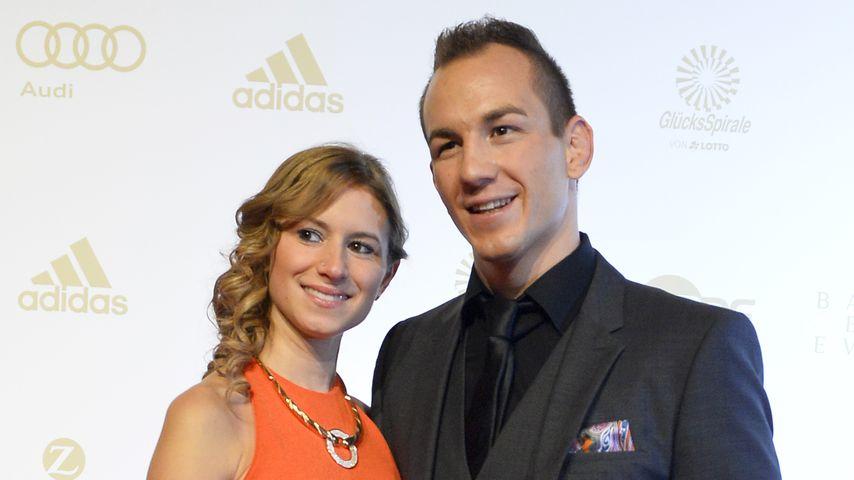 Frank Stäbler und Sandra Musch bei der Award-Verleihung zum besten deutschen Athleten 2015