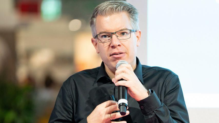 Frank Thelen bei einem Vortrag zur digitalen Revolution auf der Buchmesse in Frankfurt