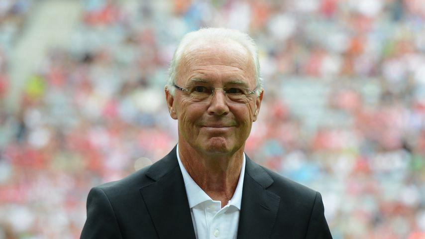 Huch! Franz Beckenbauer mit Goatee-Bärtchen