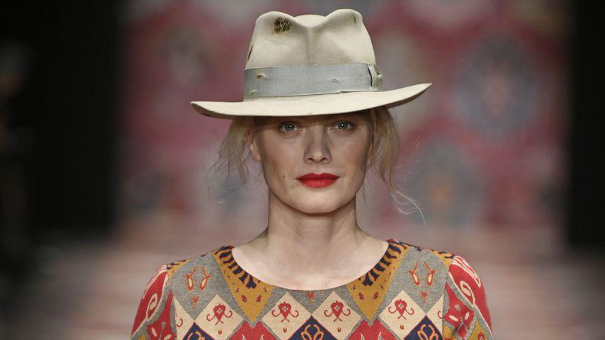 Model Franziska Knuppe während der Berlin Fashion Week, Januar 2019