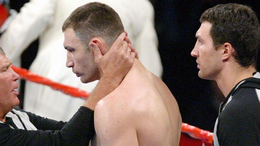 Wladimir Klitschko, Vitali Klitschko und Fritz Sdunek