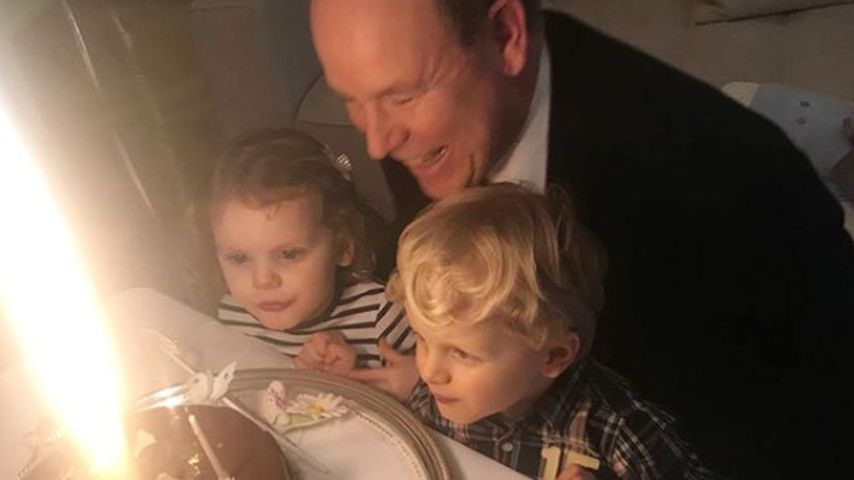Albert II. von Monaco, Töchterchen Gabriella und Söhnchen Jacques