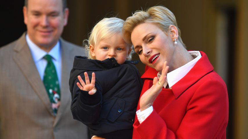 Fürstin Charlène und ihr Sohn Jacques