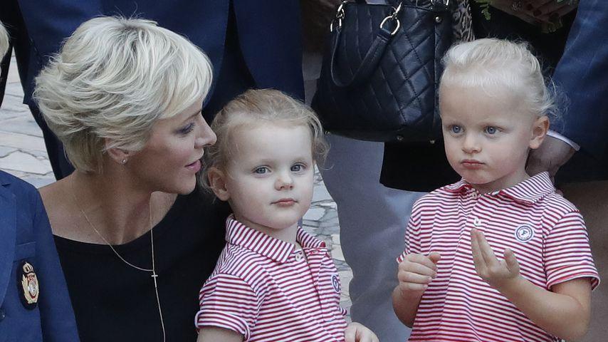 Charlène von Monaco mit ihren Zwillingen Gabriella und Jacques