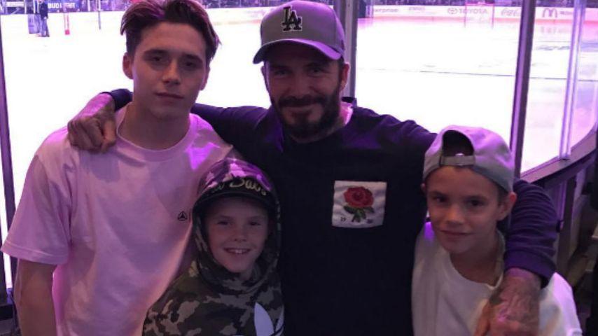 Die Beckham-Boygroup: Männertag beim Eishockey