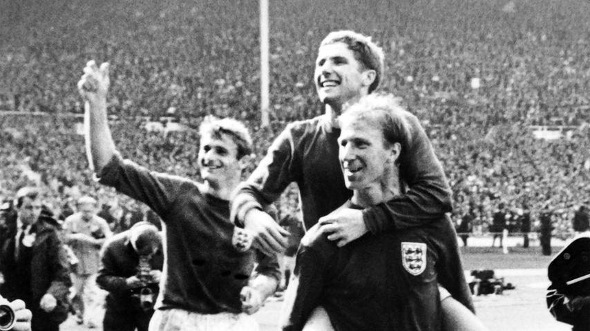 Fußballer Roger Hunt beim WM-Finale 1966