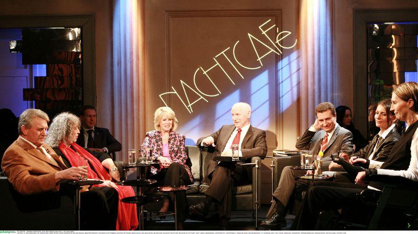 """Wieland Backes mit seinen """"Nachtcafé""""-Gästen, 2006"""