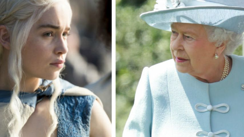 "Cool! Queen Elizabeth II. am ""Game of Thrones""-Set"