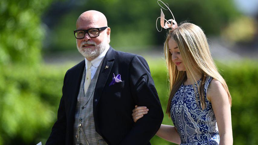 Gary Goldsmith mit seiner Tochter, 2017 in England