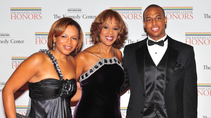 Gayle King mit ihren Kindern Kirby und William