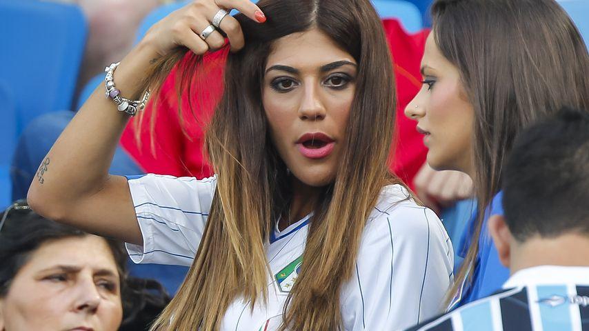 Genoveffa Darone, die Ehefrau von Lorenzo Insigne, bei der WM 2014