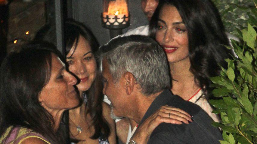 George Clooney und Amal beim Dinner mit Freunden
