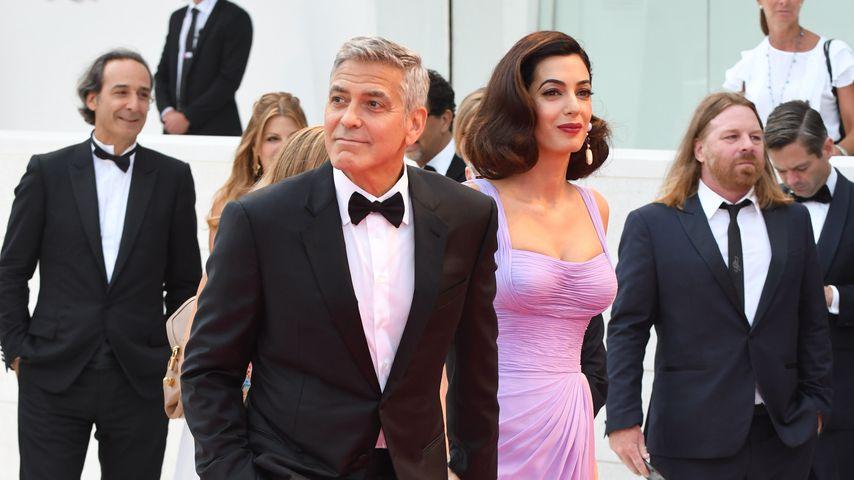 Fan-Küsse inklusive: 1. Red Carpet der Clooneys nach Geburt!