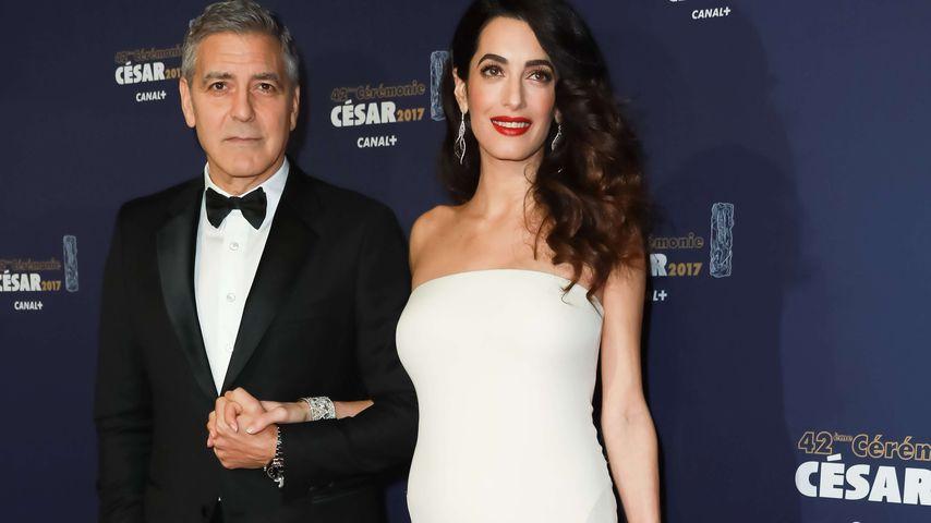 George und Amal Clooney bei der César-Verleihung in Paris