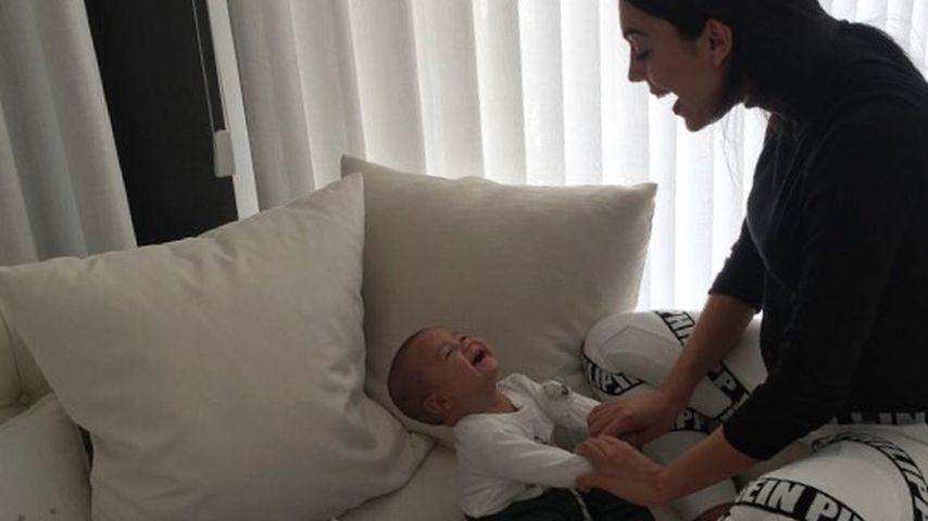 Übung im Mama-Sein: Georgina spielt mit den Ronaldo-Twins!