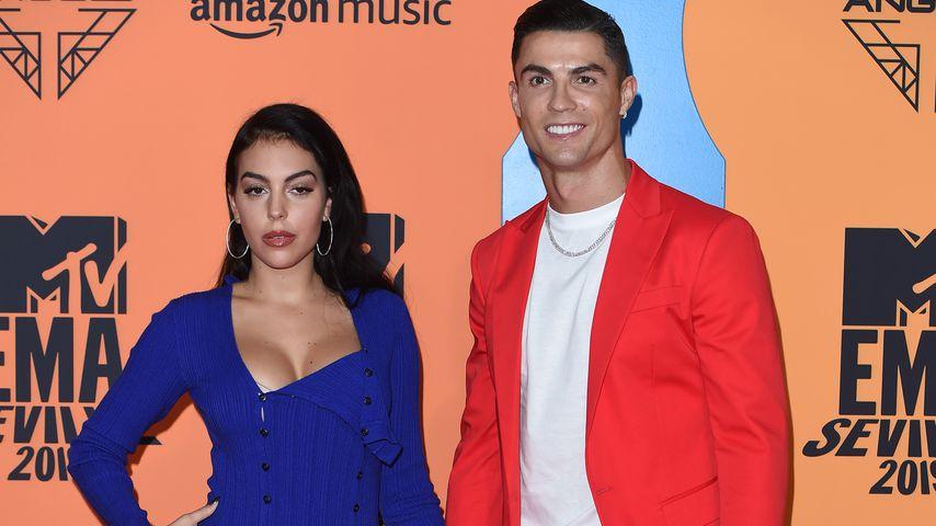 Georgina Rodriguez und Cristiano Ronaldo bei den EMAs 2019