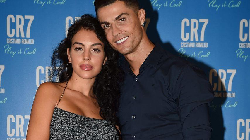 Georgina Rodriguez und Cristiano Ronaldo im September 2019 in Turin