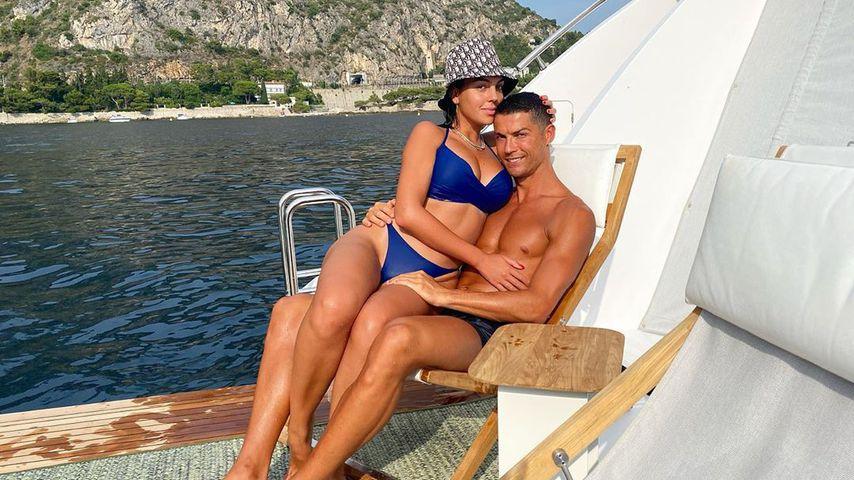 Georgina Rodríguez und Cristiano Ronaldo im August 2020