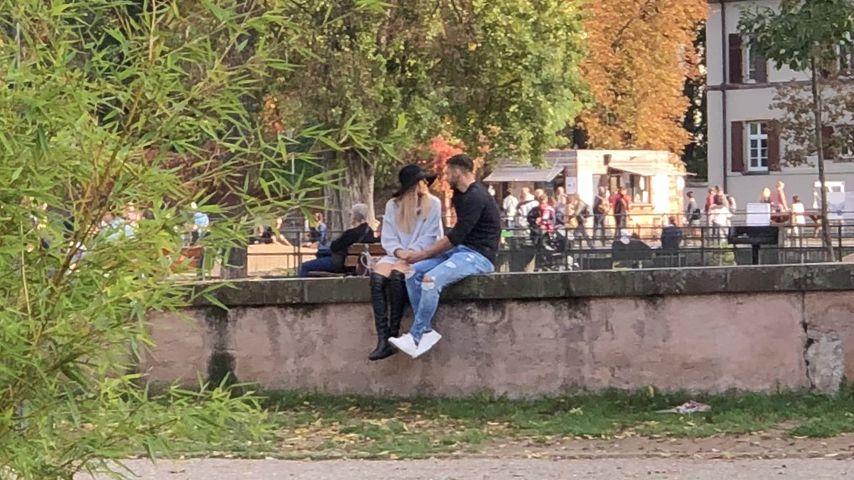 Bachelorette Gerda Lewis und ihr Zweitplatzierter Tim Stammberger in Straßburg, Oktober 2019