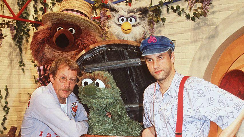 Gernot Endemann mit seinem Schauspielkollegen
