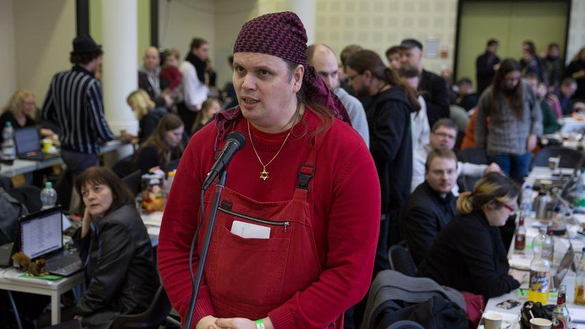 Gerwald Claus-Brunner beim Landesparteitag der Berliner Piratenpartei