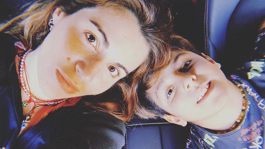 Gianinna Maradona und ihr Sohn