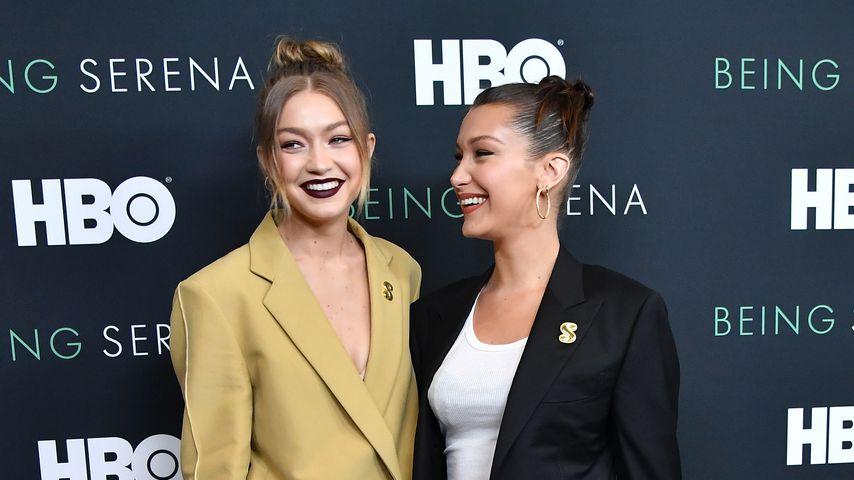 """Gigi und Bella Hadid auf der US-Premiere von """"Being Serena"""""""