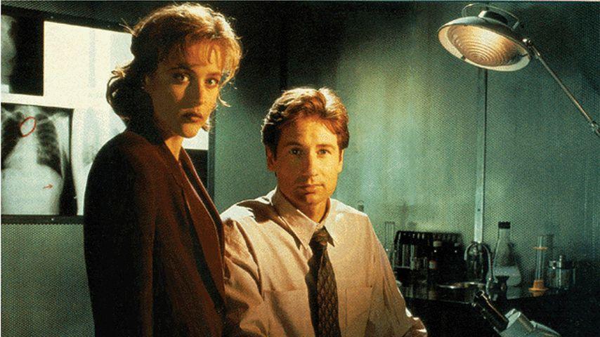 """Gillian Anderson und David Duchovny in der Serie """"Akte X"""""""