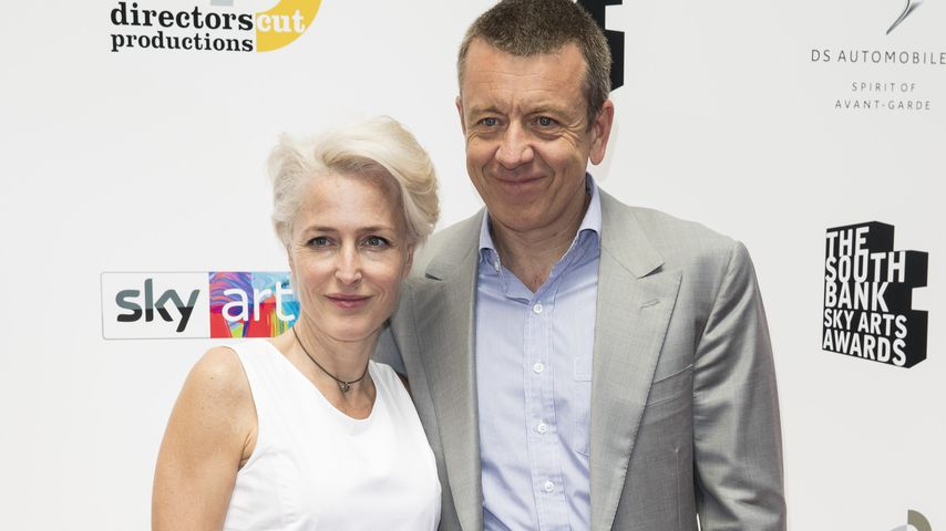 Gillian Anderson und Peter Morgan auf einem Event in London