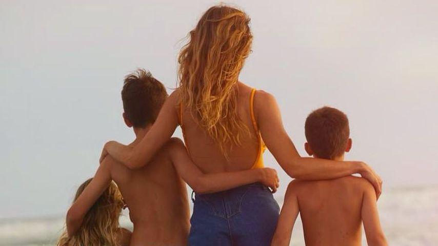 Gisele Bündchen mit ihren Kindern im Mai 2021