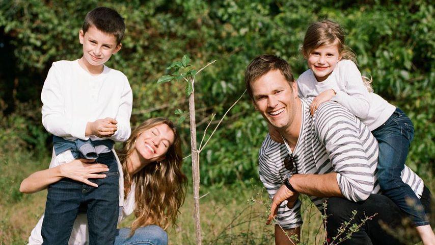 Gisele Bündchen mit ihrem Mann Tom Brady und ihren Kids