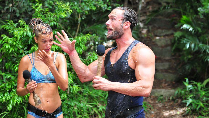 Gisele Oppermann und Bastian Yotta im Dschungelcamp