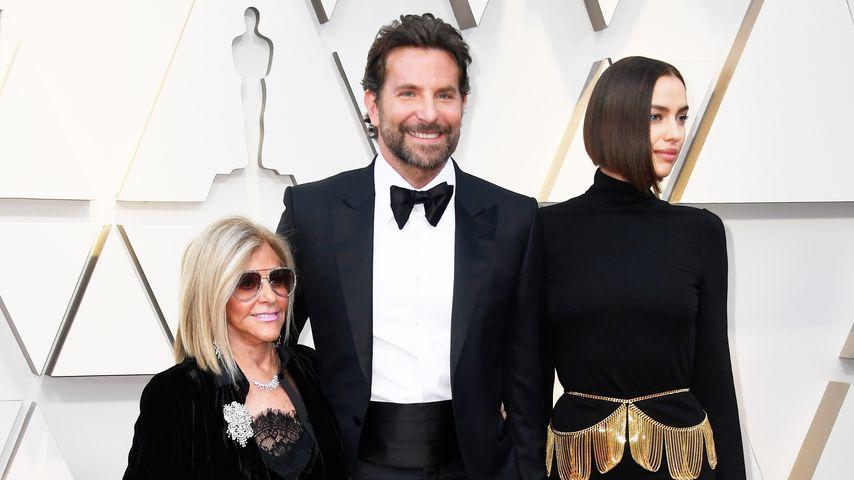 Gloaria Campano, Bradley Cooper und Irina Shayk auf dem Red Carpet der 91. Oscars