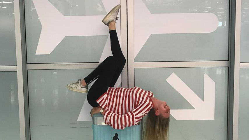 GNTM-Kandidatin Trixi Giese am Flughafen von Los Angeles
